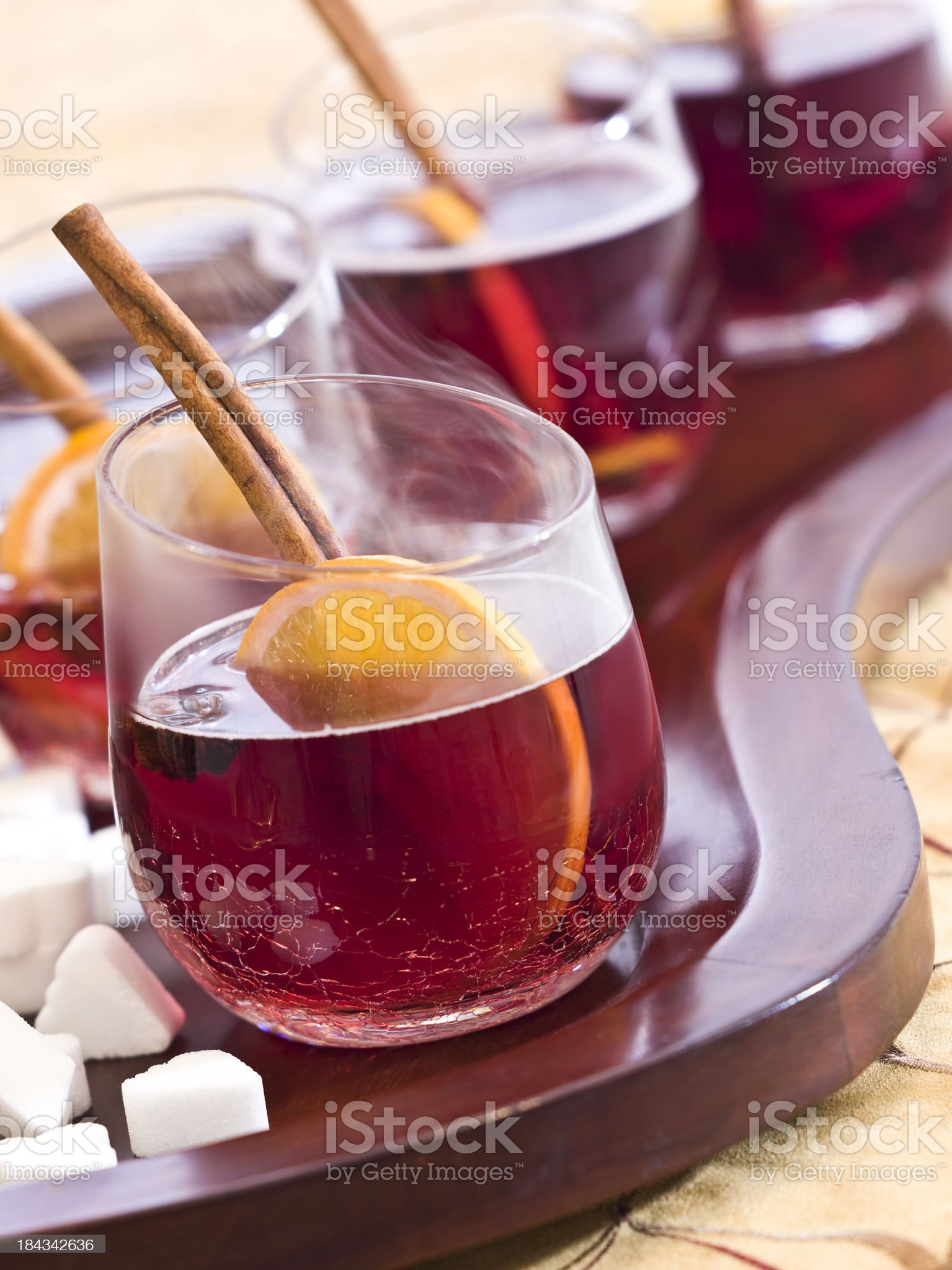 Winter Mulled Red Wine (complete with steam) royalty-free stock photo