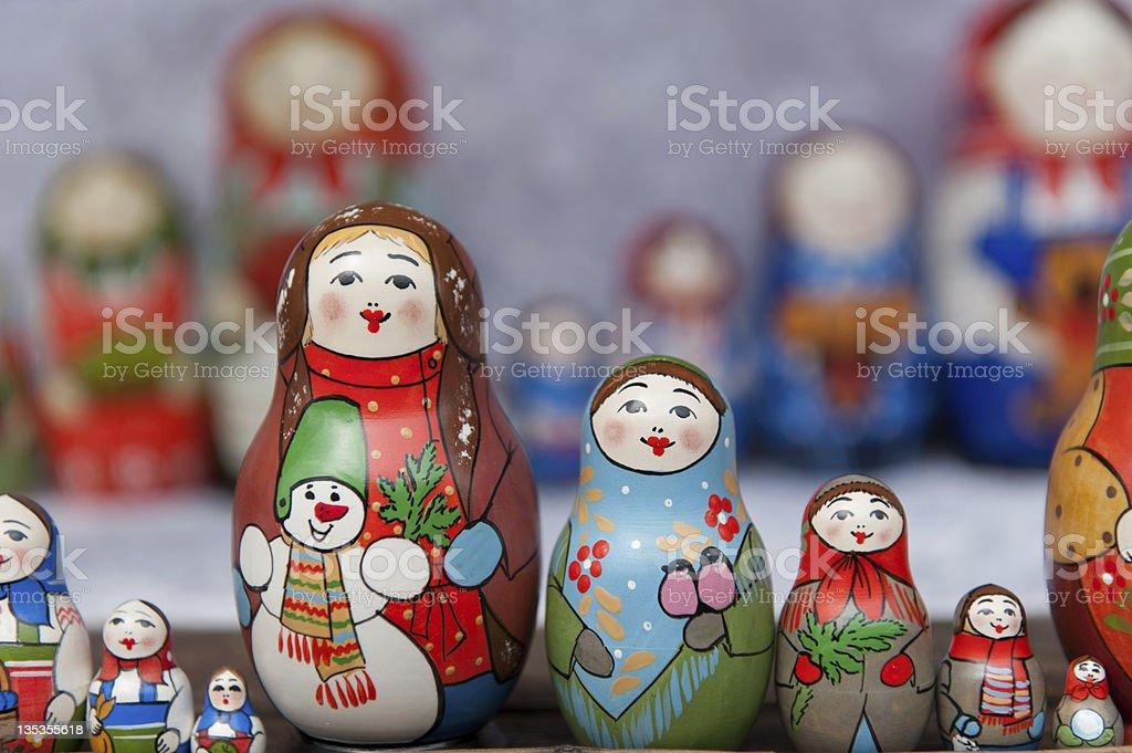 Winter Nesting Dolls royalty-free stock photo