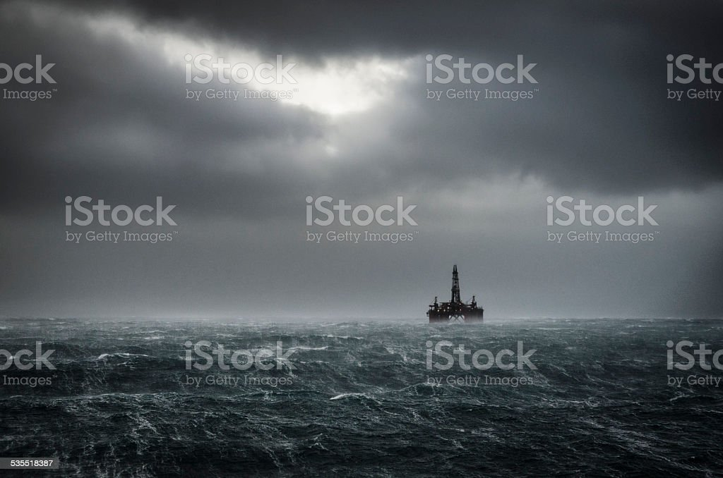 Winter North Sea stock photo