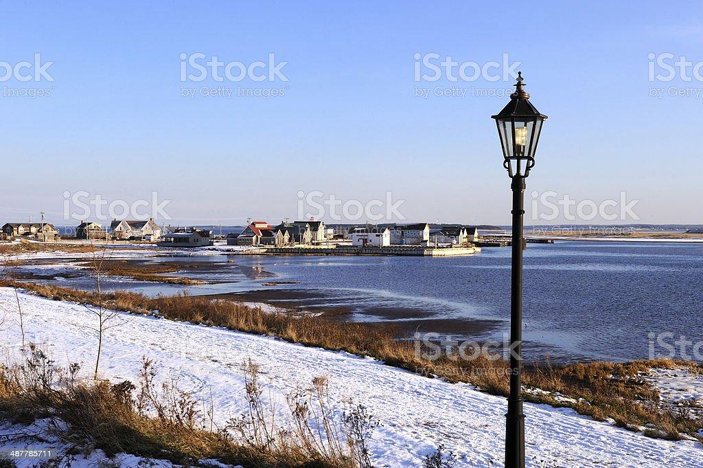 P.E.I. Winter of North Rustico (prince edward island) stock photo