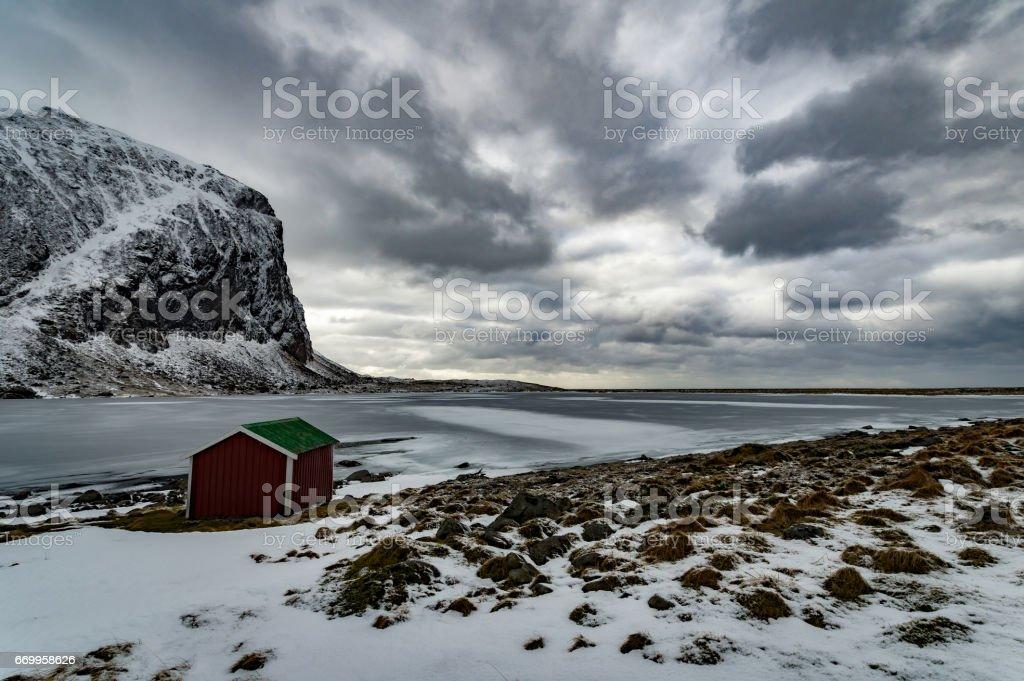 Winter of Norway stock photo