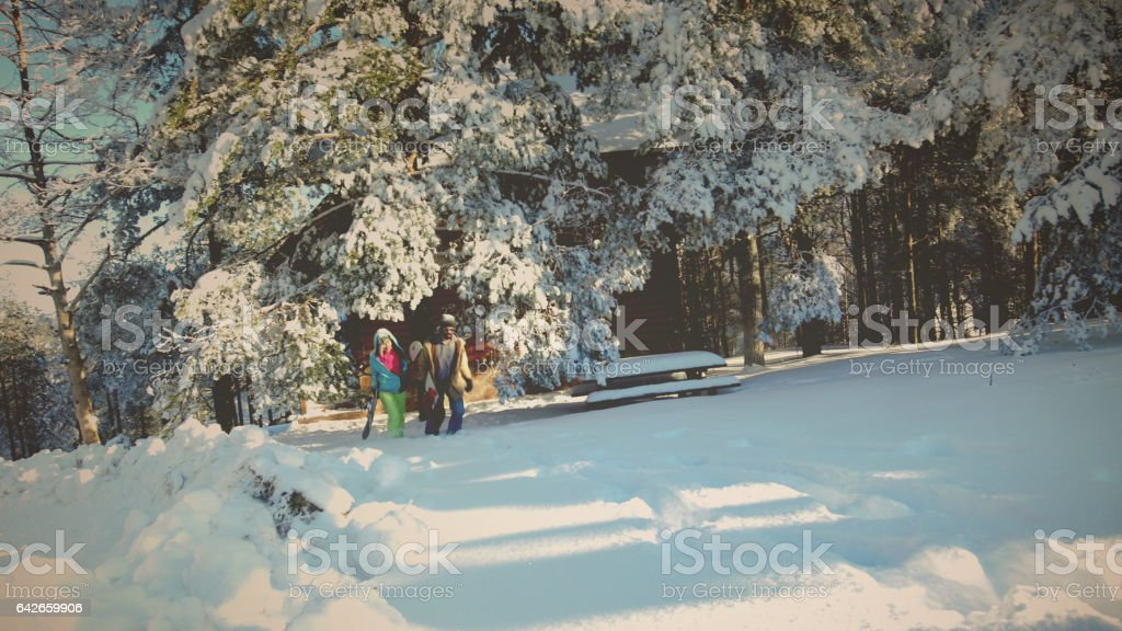 Winter on a mountain stock photo