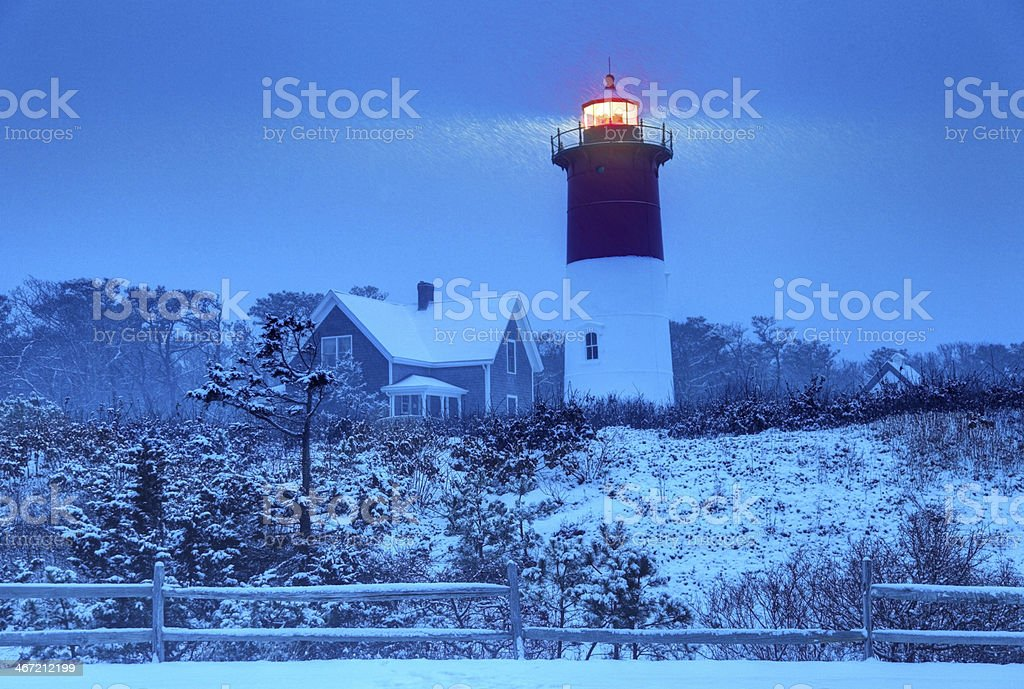 Winter on Cape Cod stock photo
