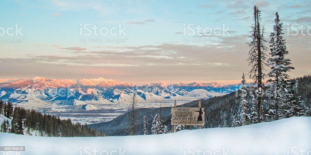 Winter on Teton Pass stock photo