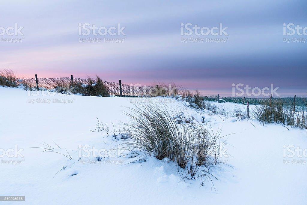 Winter on the Baltic Sea stock photo
