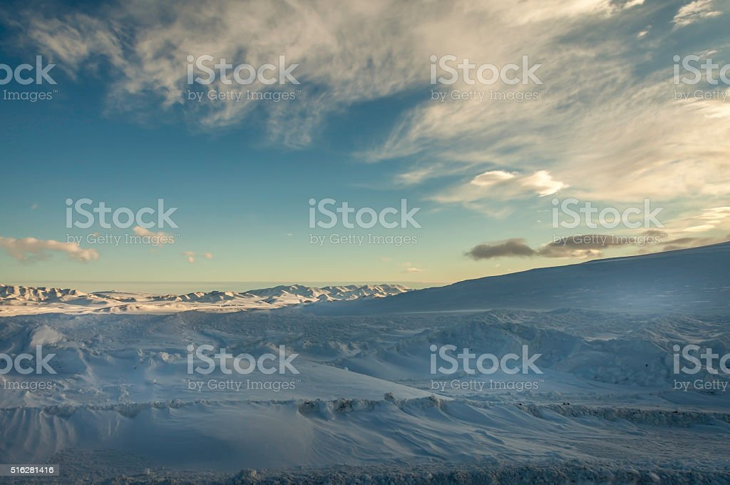 Winter on the Dempster Highway stock photo