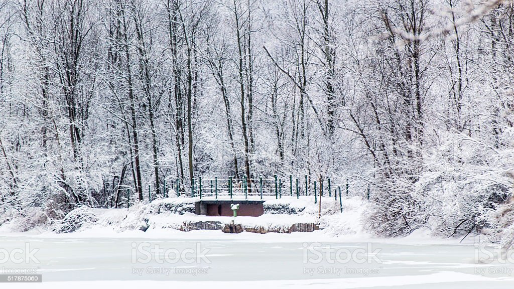 Winter on the Erie Canal stock photo