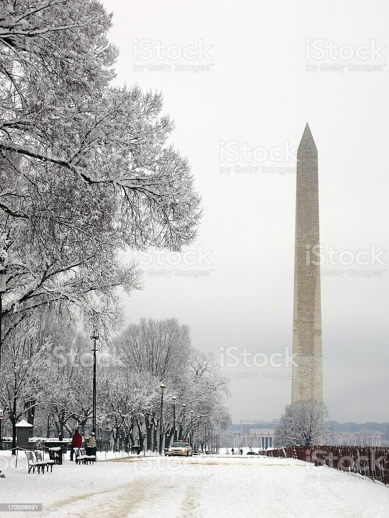 Winter on the National Mall royalty-free stock photo