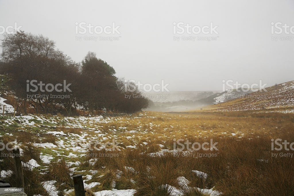 Winter on the North Yorkshire Moors stock photo