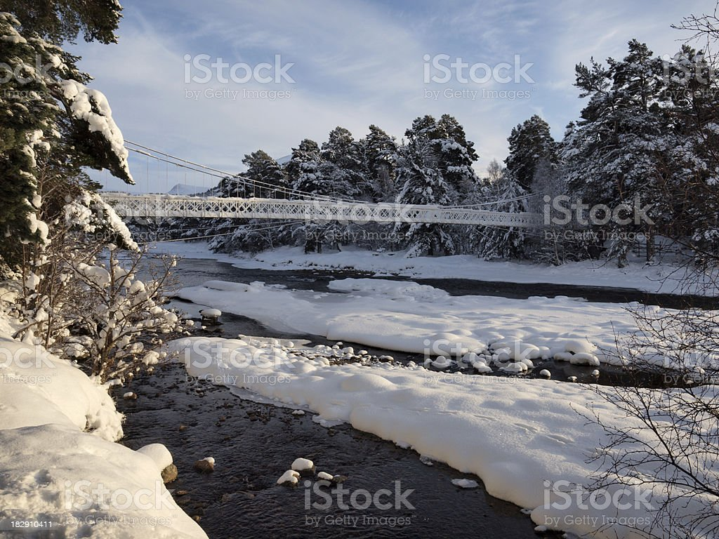 Winter on the River Dee, Scotland royalty-free stock photo