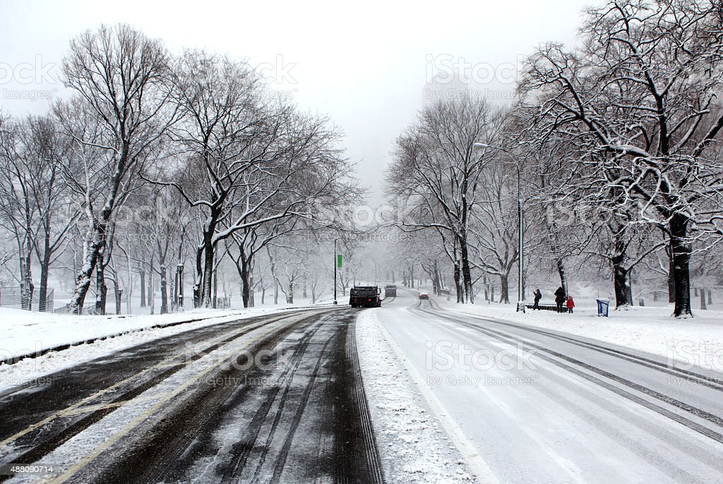 Winter on the Streets of Manhattan stock photo