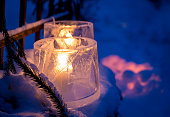 Winter outdoor decorations