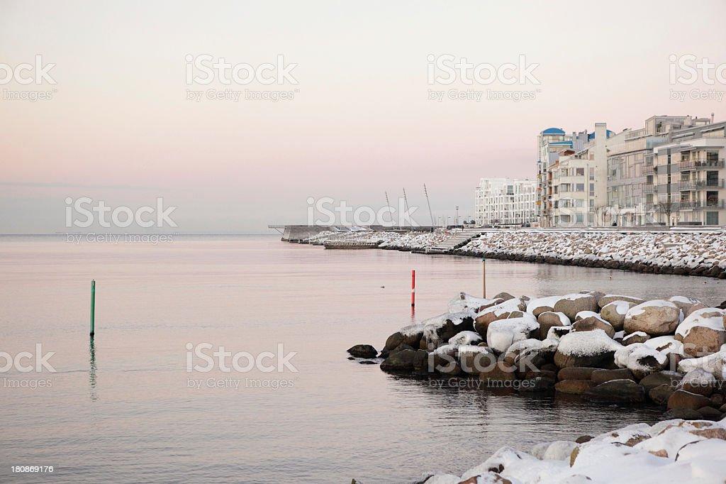 Winter over Vastra Hamnen stock photo