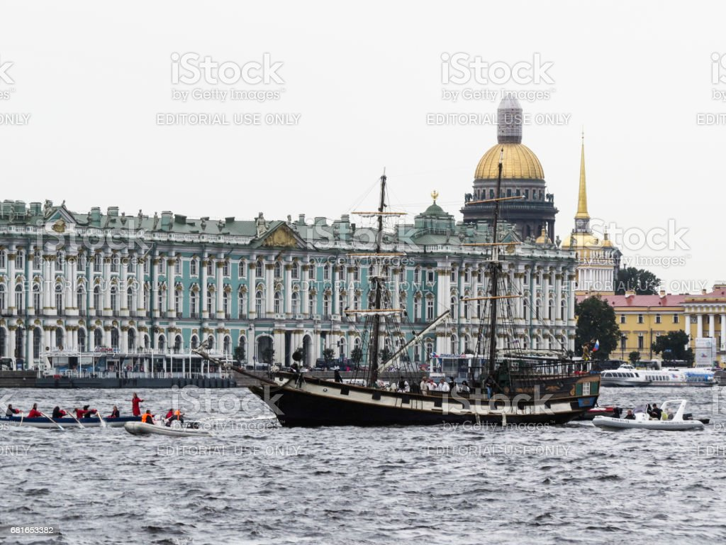 Winter Palace and Saint Isaac's Cathedral stock photo