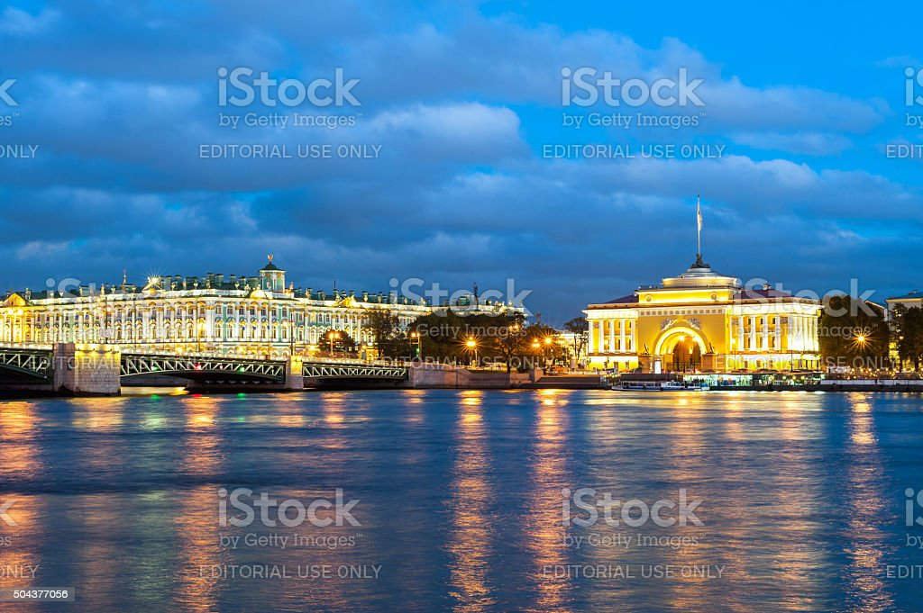 Winter palace and the Admiralty stock photo