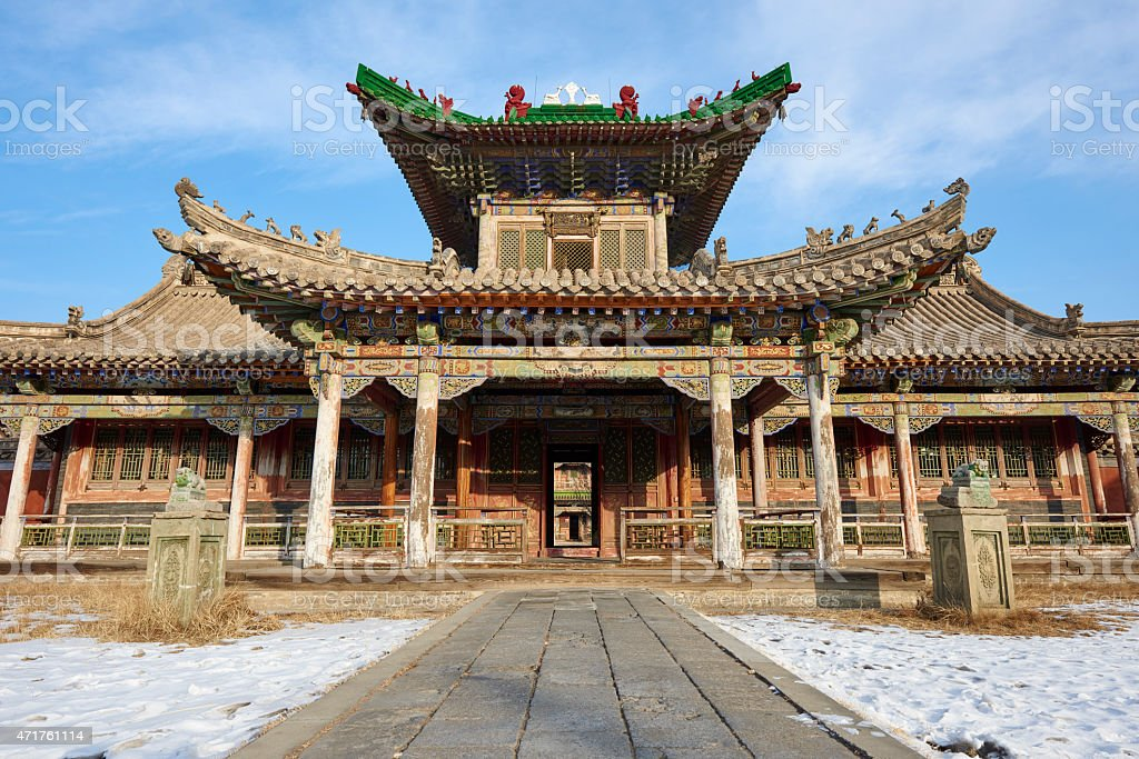 Winter Palace of the Bogd Khan stock photo