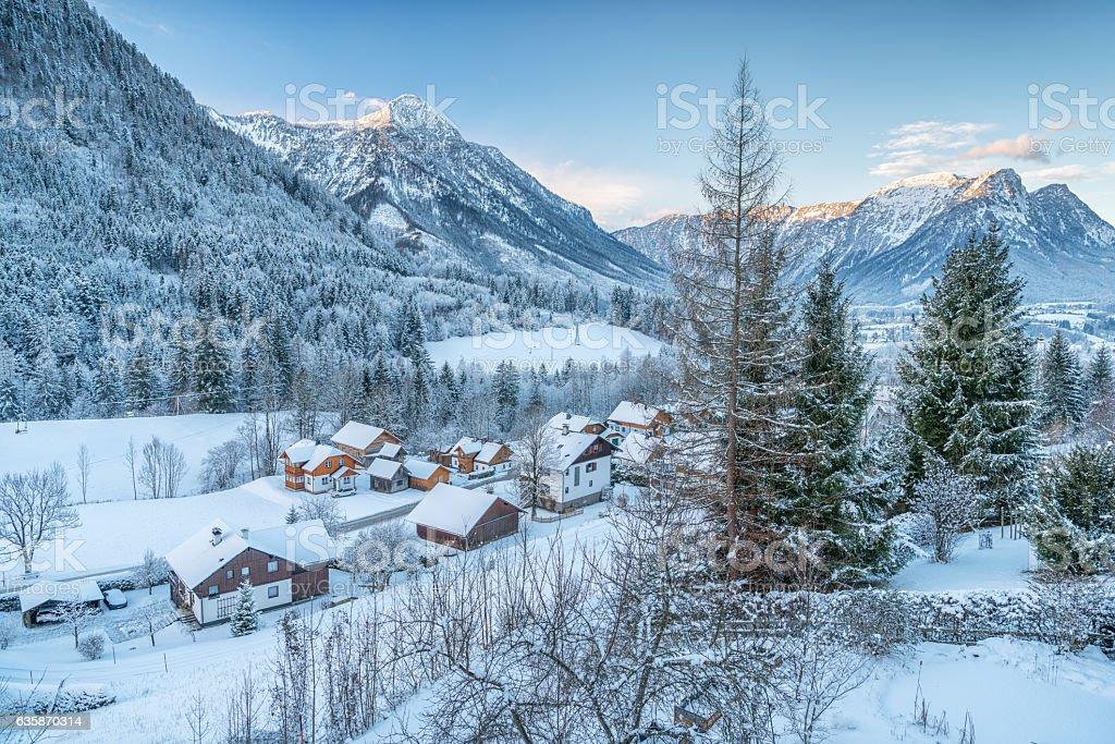 Winter Panorama, Austrian Alps stock photo