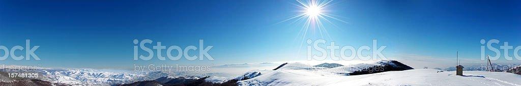 XXL Winter Panorama stock photo