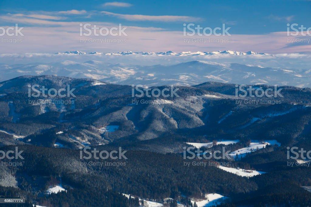Winter panorama stock photo