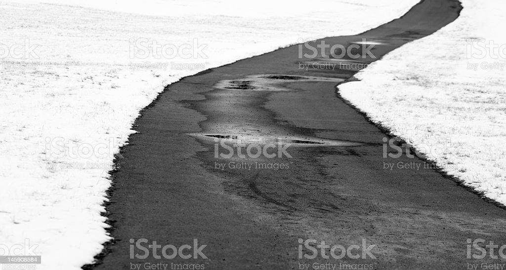 Winter Path royalty-free stock photo