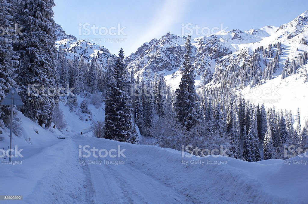 Winter peaks royalty-free stock photo