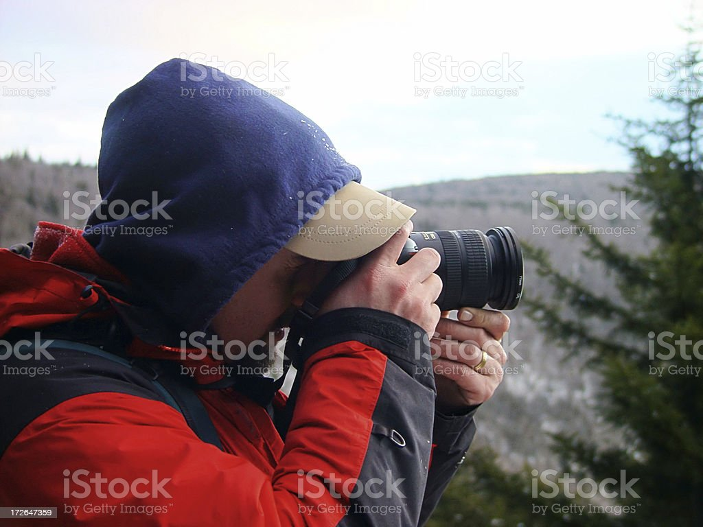 Winter Photographer stock photo