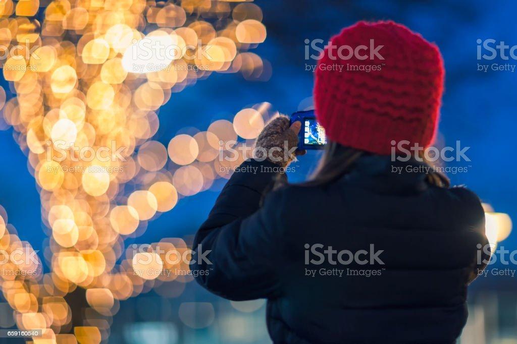Winter photography stock photo