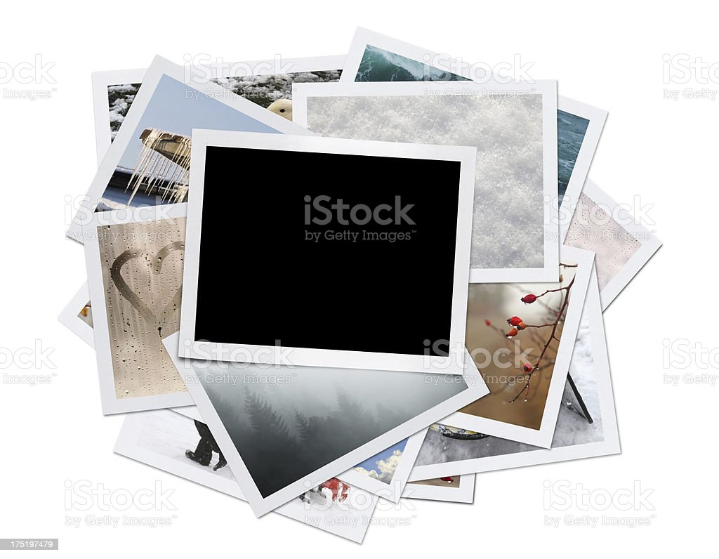 Winter Photos (Clipping Path) stock photo