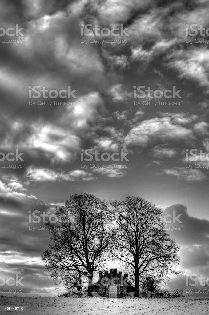 Winterlandschaft stock photo