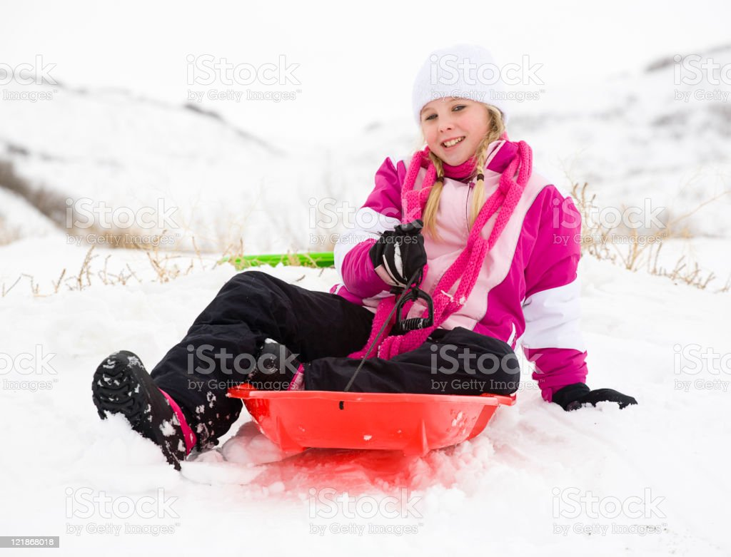 Winter Play royalty-free stock photo