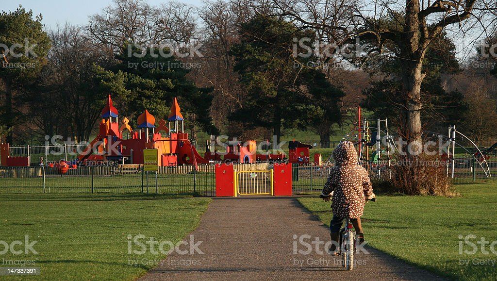 Winter Playground royalty-free stock photo