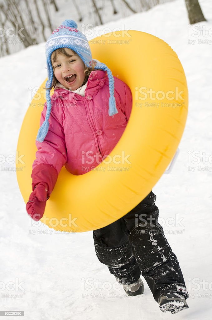 Winter playing royalty-free stock photo
