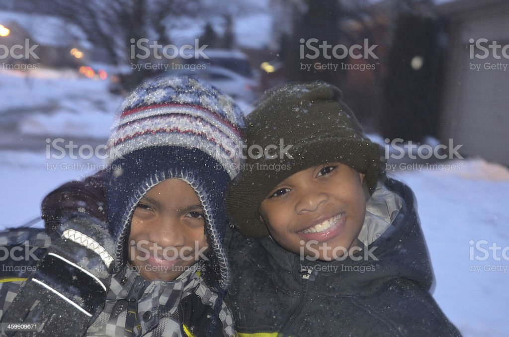 Winter Playtime stock photo