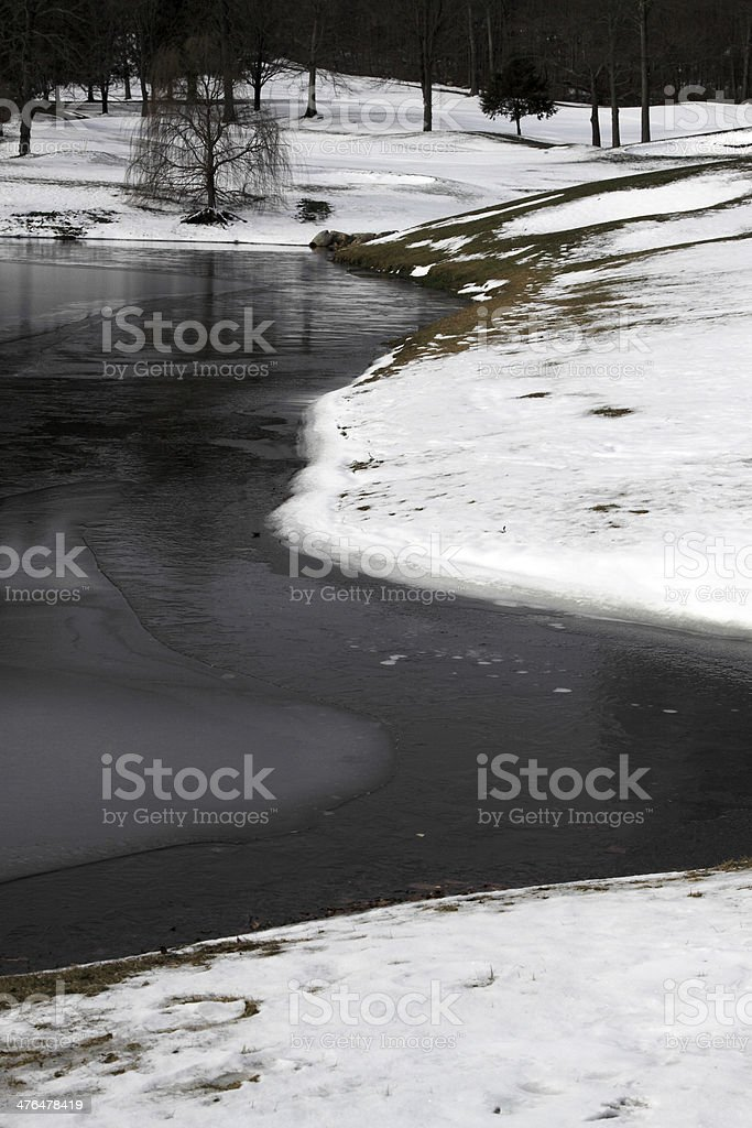 winter pond royalty-free stock photo