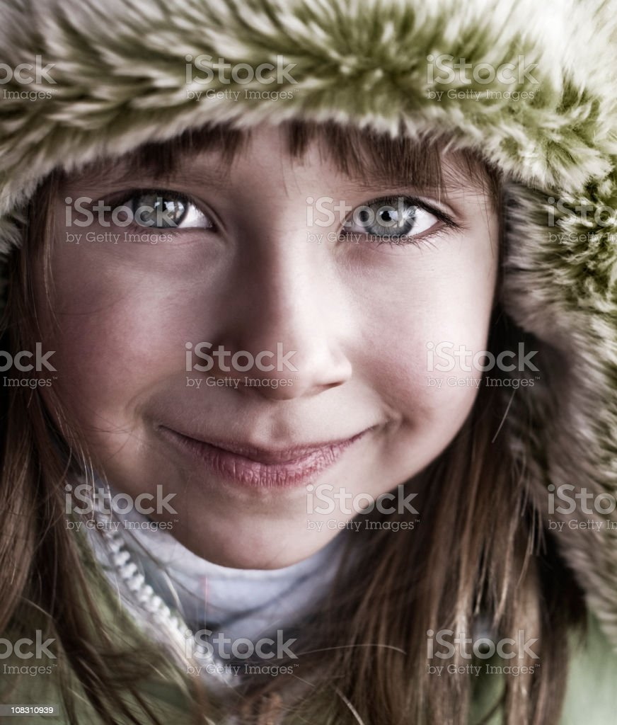 Winter portrait of a little girl royalty-free stock photo