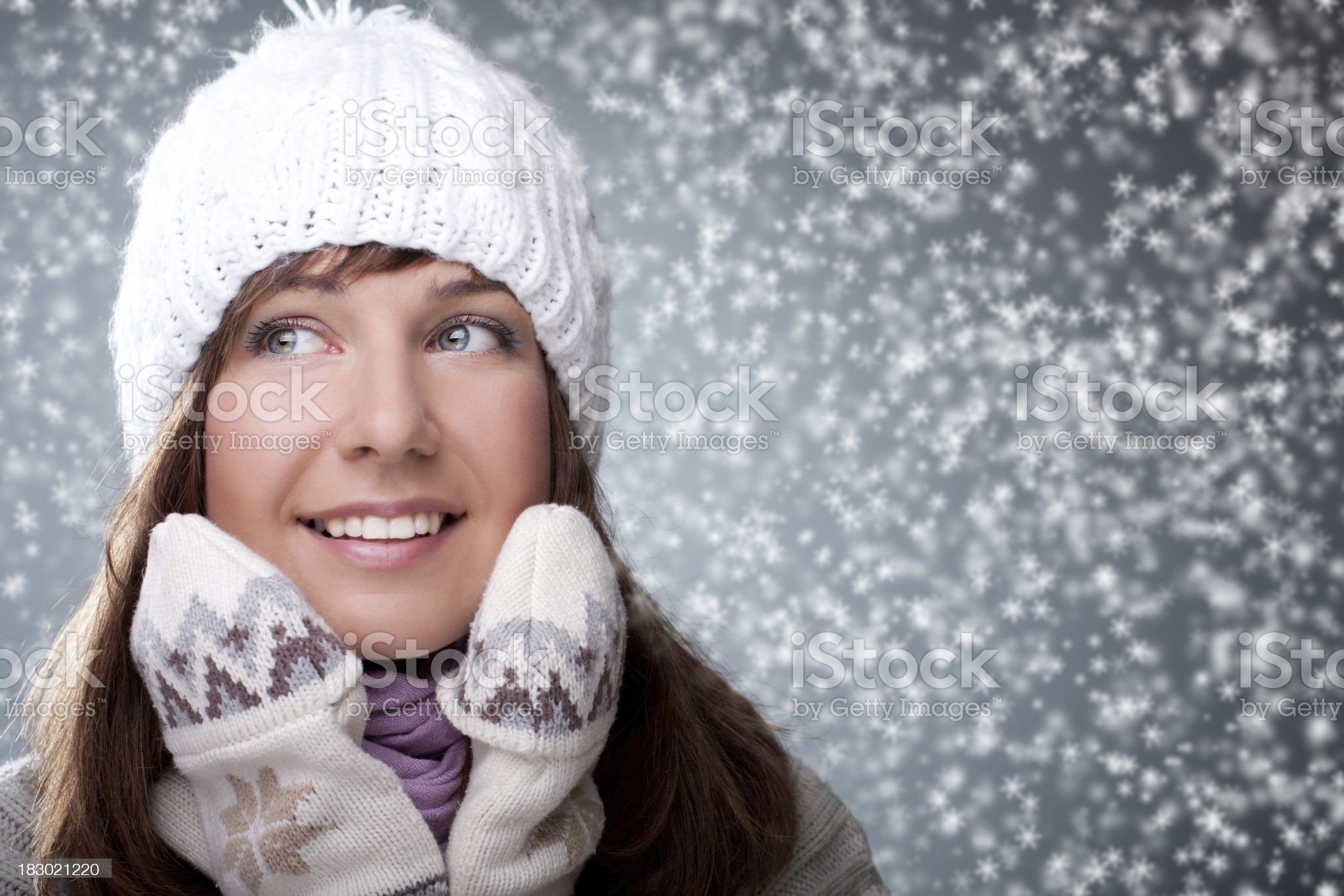 Winter Portrait of beautiful girl royalty-free stock photo