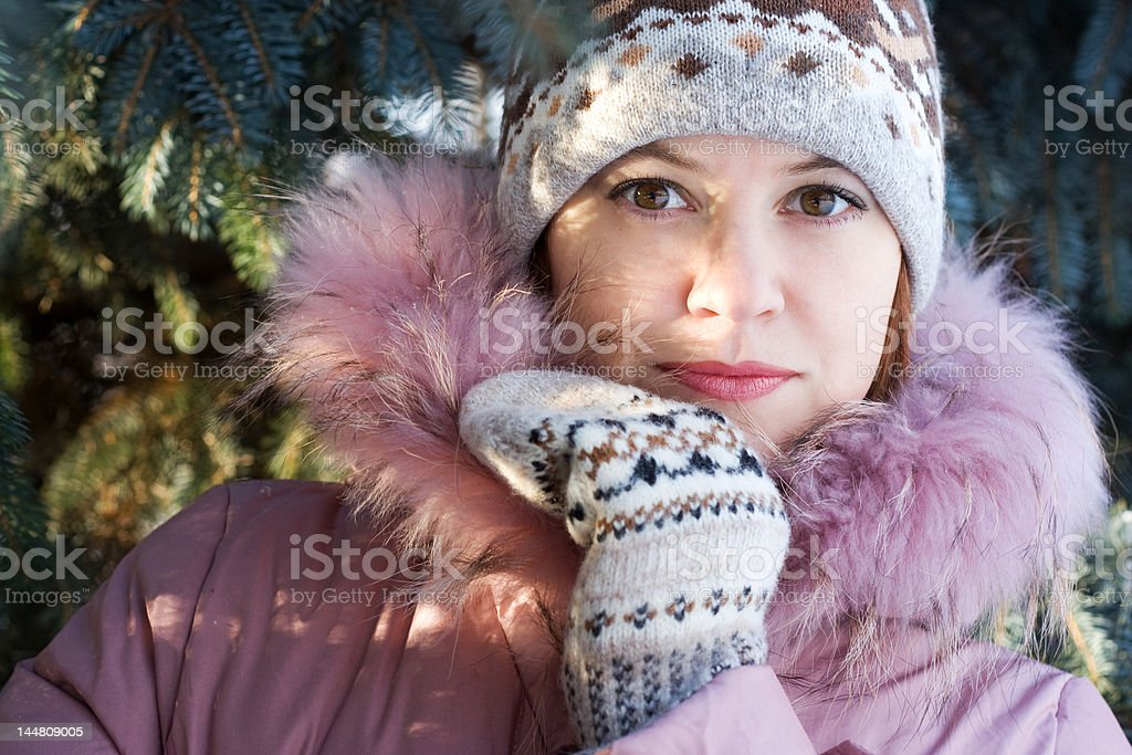 Winter portrait of girl royalty-free stock photo
