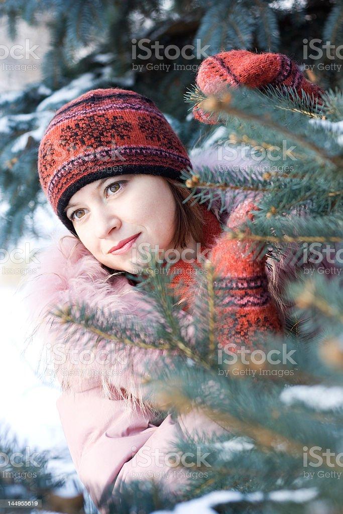 Winter portrait of girl royalty-free stock photo