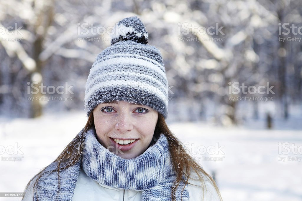 Winter portrait. royalty-free stock photo
