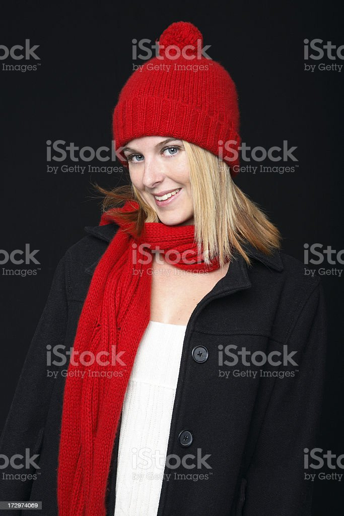 Winter portrait. royalty-free stock photo