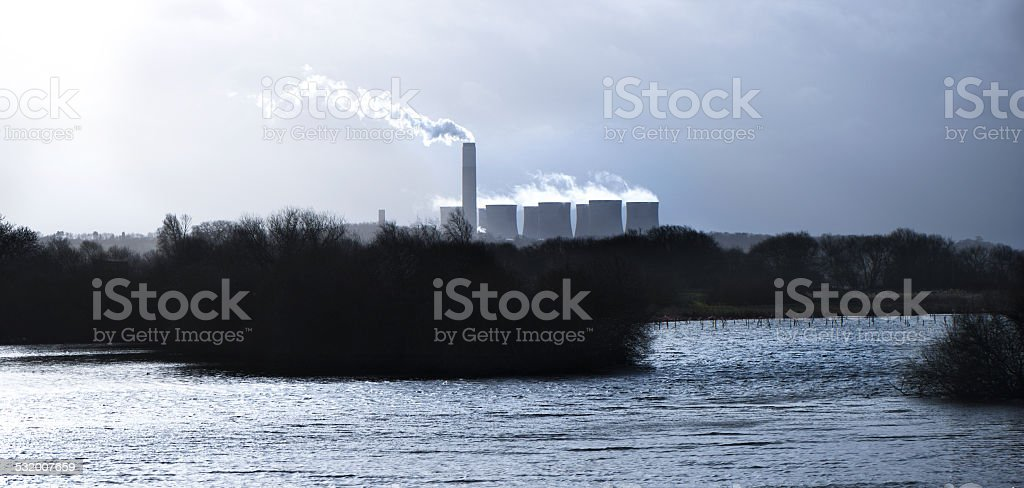Winter - Power station stock photo