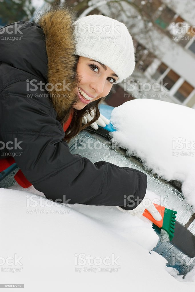 Winter problem royalty-free stock photo