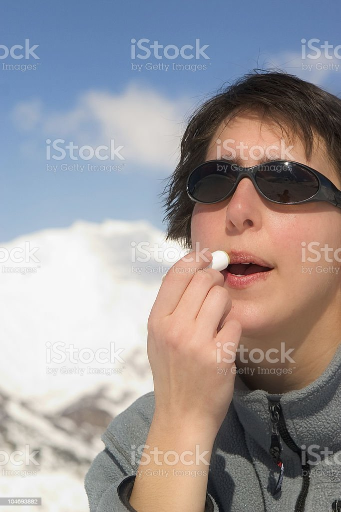 Winter protection royalty-free stock photo