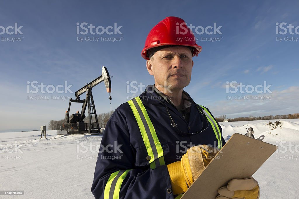 Winter Pumpjack royalty-free stock photo