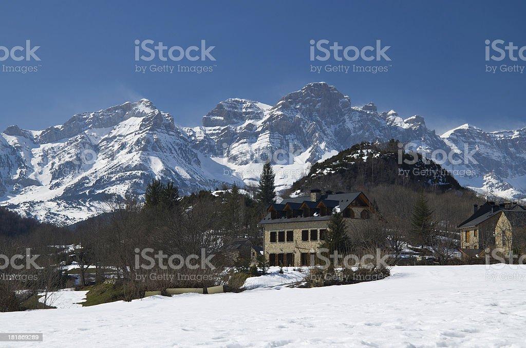 Winter Pyrenees in the neighborhood of Panticosa royalty-free stock photo