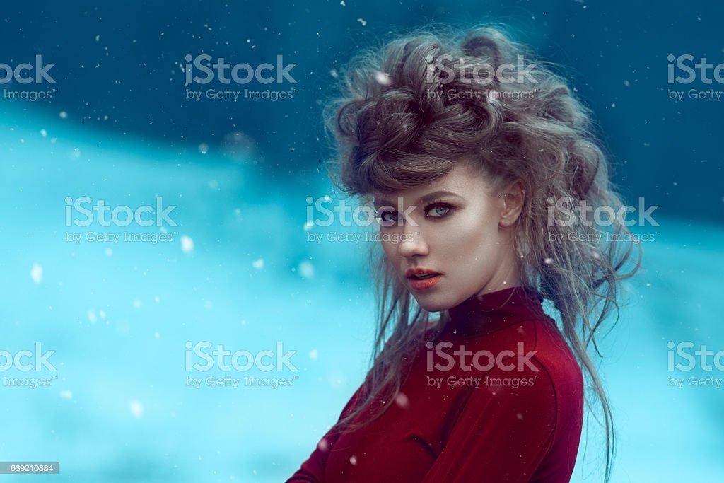winter queen stock photo