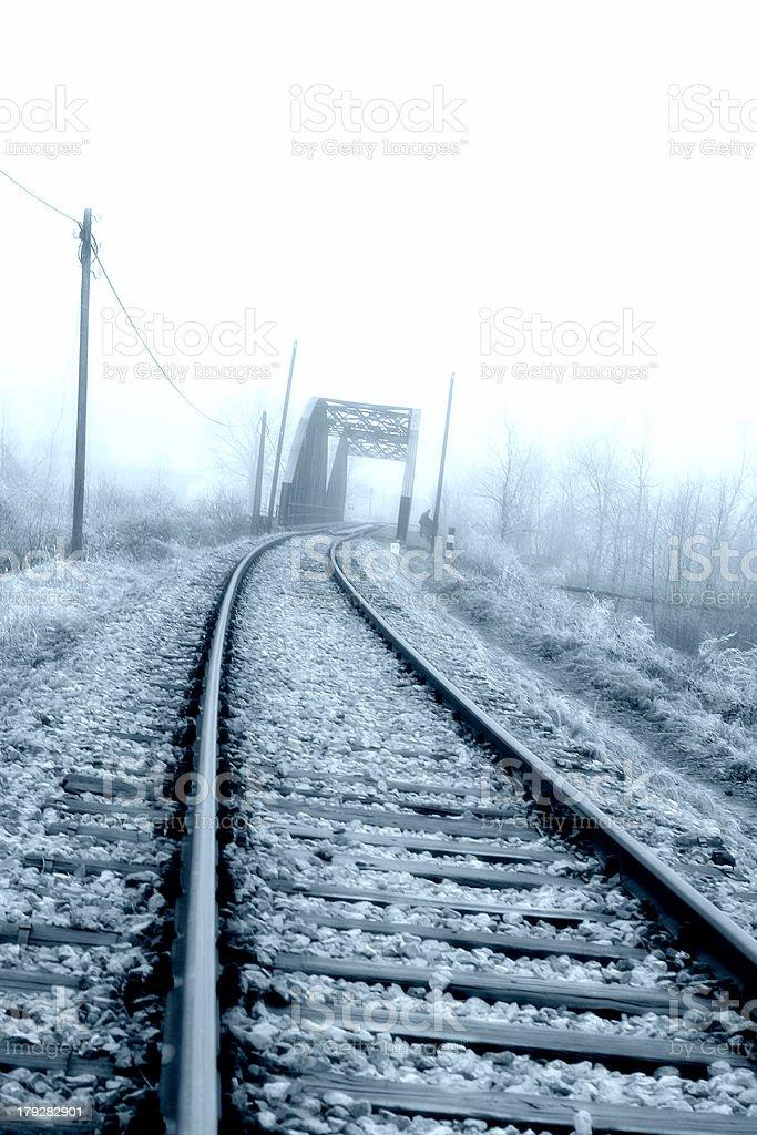 Winter Railroad royalty-free stock photo