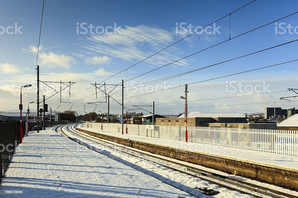 Winter Railway Scene royalty-free stock photo
