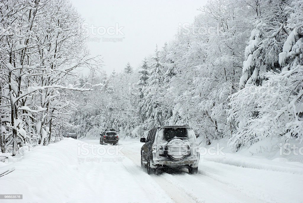 Winter Rally stock photo