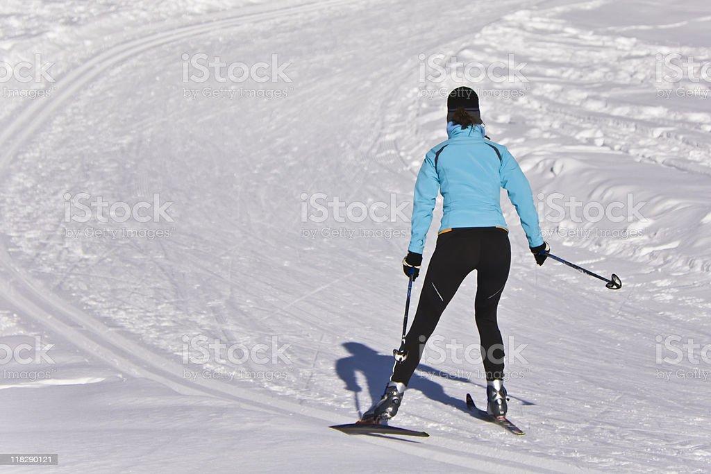 winter recreation royalty-free stock photo